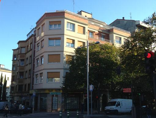 Albañilería Landetxa ha llevado a cabo la restauración de la fachada en la calle Avenida de Navarra 7 de Irun
