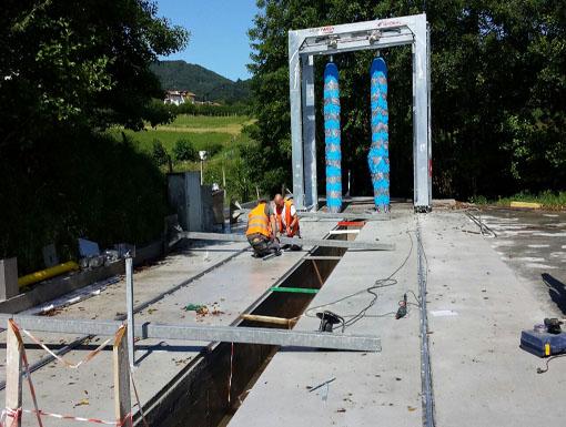 Albañilería Landetxa acometió una obra civil para la construcción de un tunel de lavado de coches en un polígono industrial de Gipuzkoa